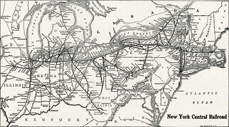 History of the Mohawk Valley Gateway to the West 16141925 Map of