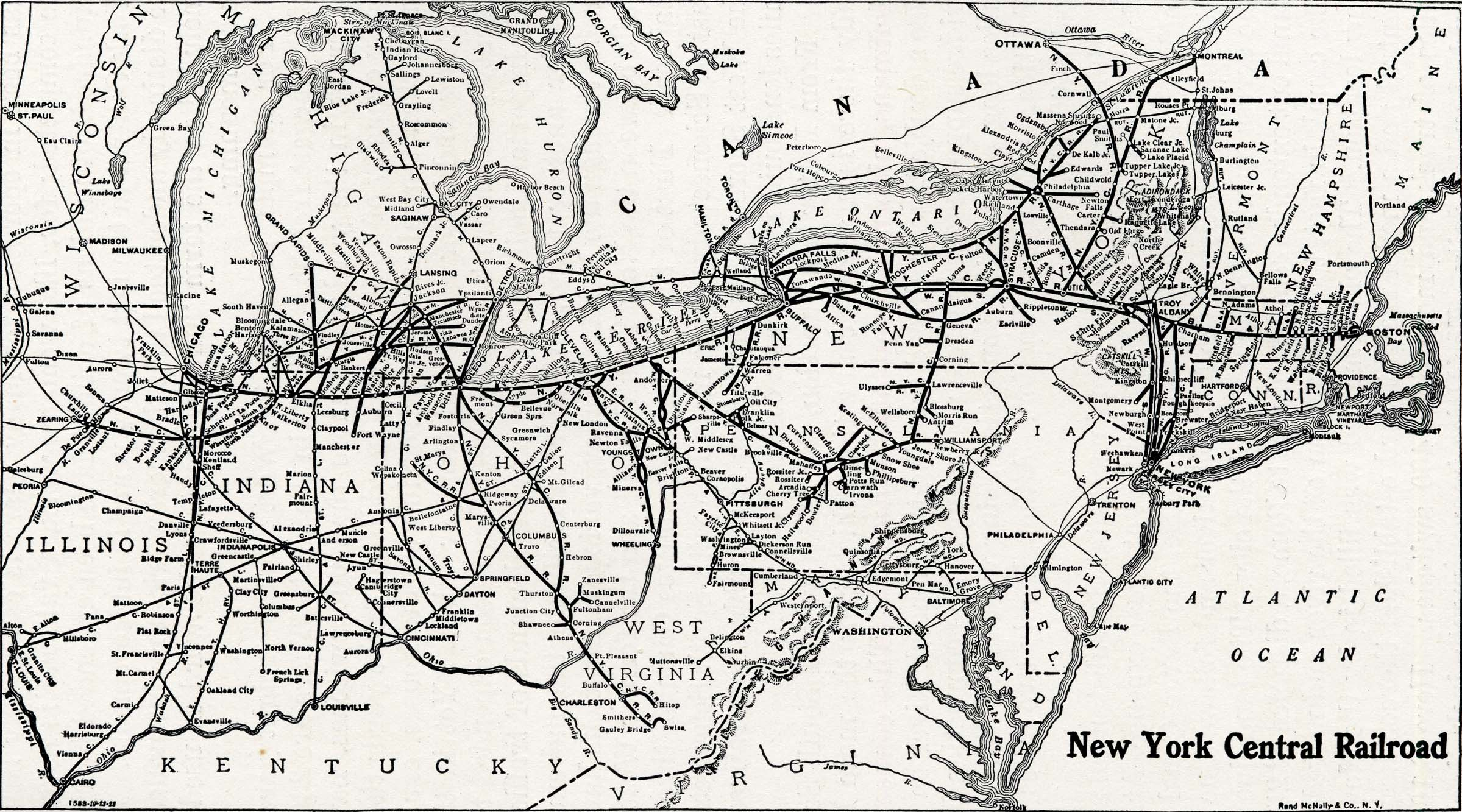 Map Of New York Rail System.History Of The Mohawk Valley Gateway To The West 1614 1925 Map Of