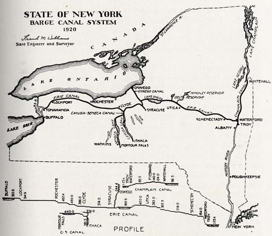 History Of The Mohawk Valley Gateway To West 16141925 \u2014 Map: New York Canal System Map At Slyspyder.com