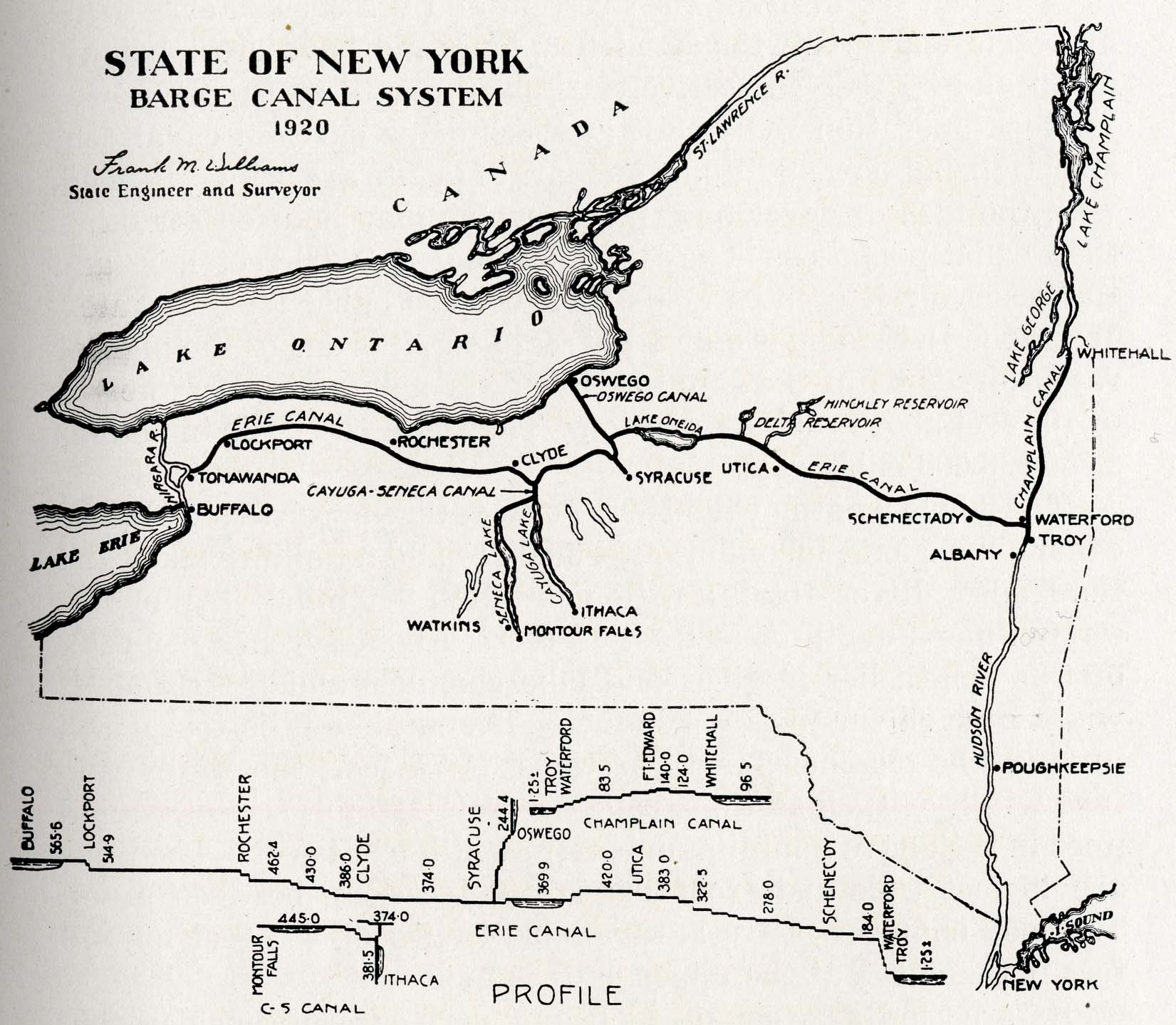 History Of The Mohawk Valley Gateway To The West   Map - Nyc map canal street