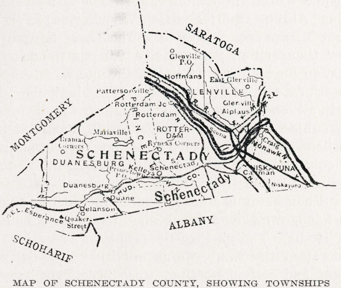 History of the Mohawk Valley: Gateway to the West 1614-1925 Mapschenectady county