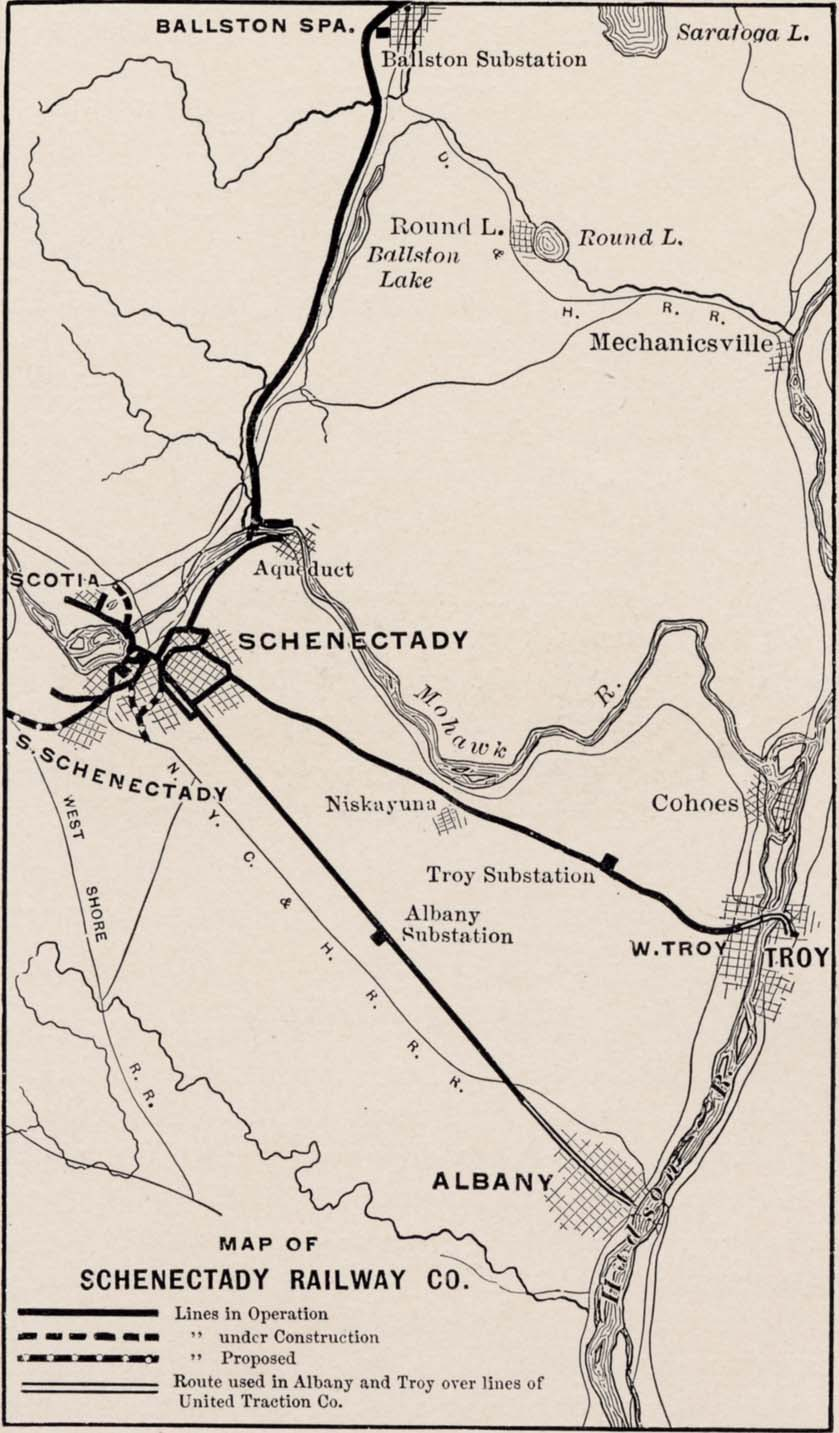 Schenectady Electrical Handbook - Map of Schenectady Railway Company